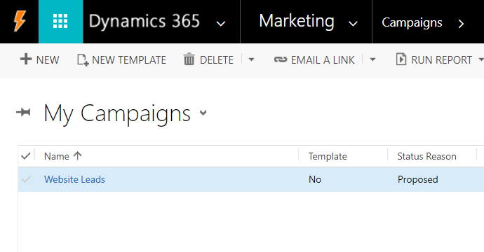 WordPress to Dynamics CRM Marketing Campaign List